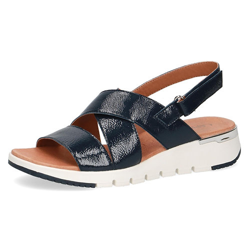 Caprice navy patent leather sandal