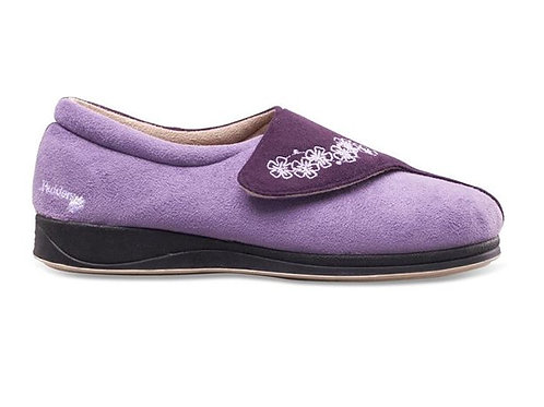 Padders Hug Wide Fit Slippers Lilac