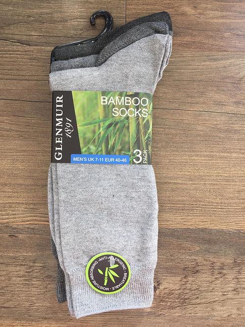 Glenmuir Mens Bamboo Socks 3 Pack
