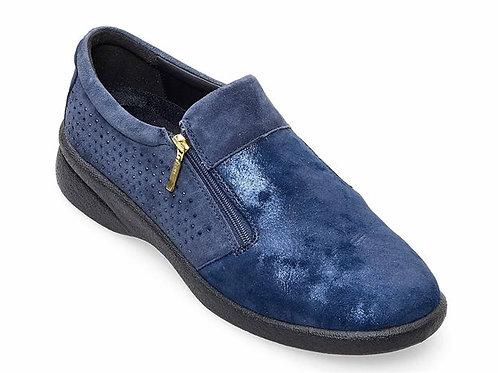 Padders Navy Repearl Double Zip shoe