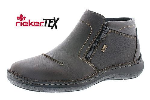 Rieker mens zip up brown boot TEX
