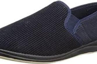 Padders Memory Foam slippers Navy cord