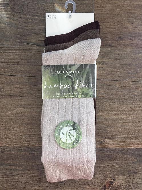 Glenmuir Men's Bamboo Fibre 3 pack socks