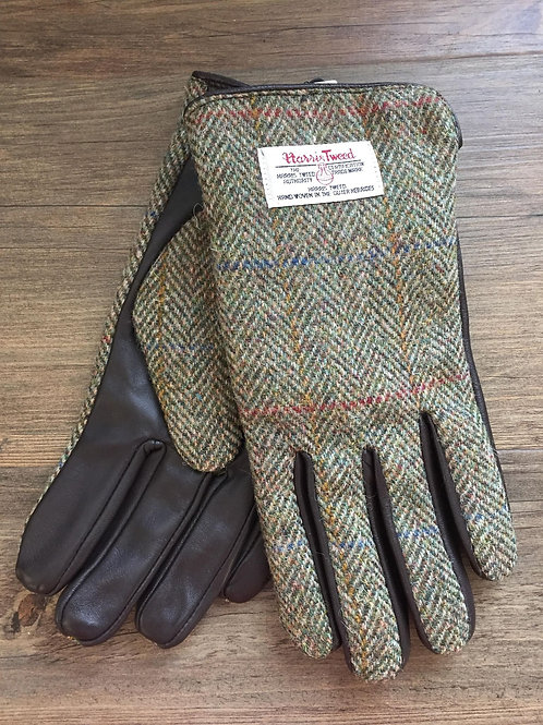 Men's Harris Tweed Leather Gloves