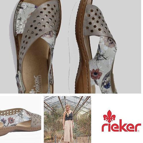 Rieker womens grey multi sandal