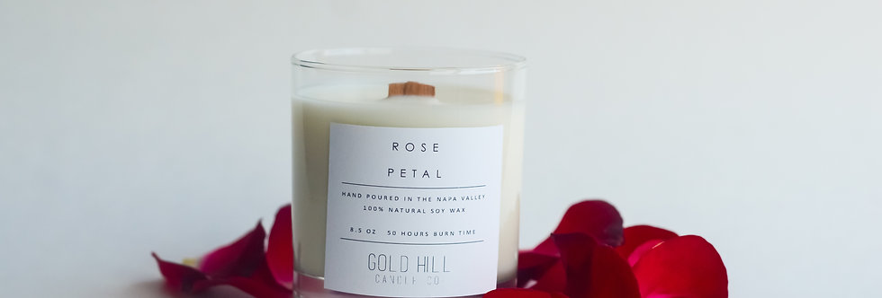 Rose Petal Soy Candle