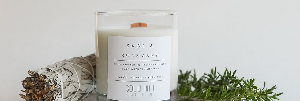Sage & Rosemary Soy Candle