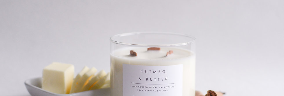 Nutmeg & Butter 3 Wick Soy Candle