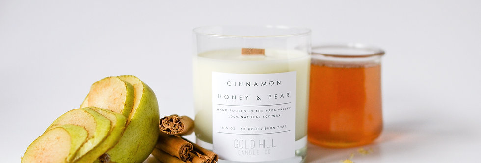 Cinnamon Honey & Pear Soy Candle