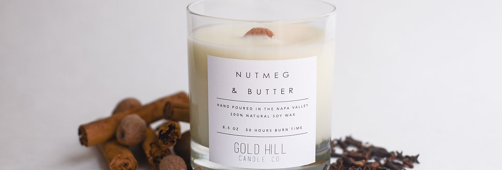 Nutmeg & Butter Soy Candle