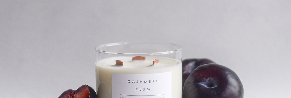 Cashmere Plum 3 Wick Soy Candle