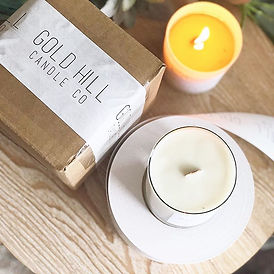 Spending this morning packaging candles (upon candles upon candles), drinking coffee (upo