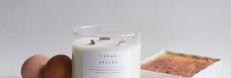 Creme Brûlée 3 Wick Soy Candle