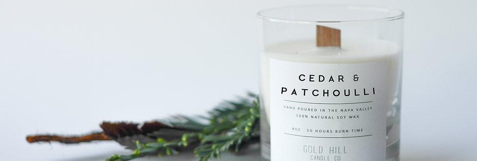 Cedar & Patchouli Soy Candle