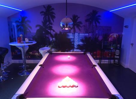 Games room lighting scenes