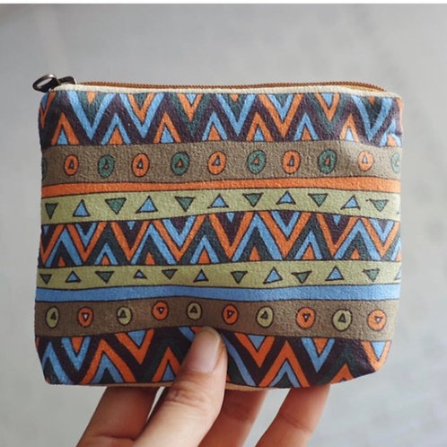 Coin and Fabric Coin Purse