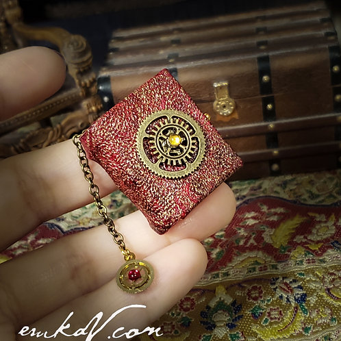 Red Leather Steampunk Book
