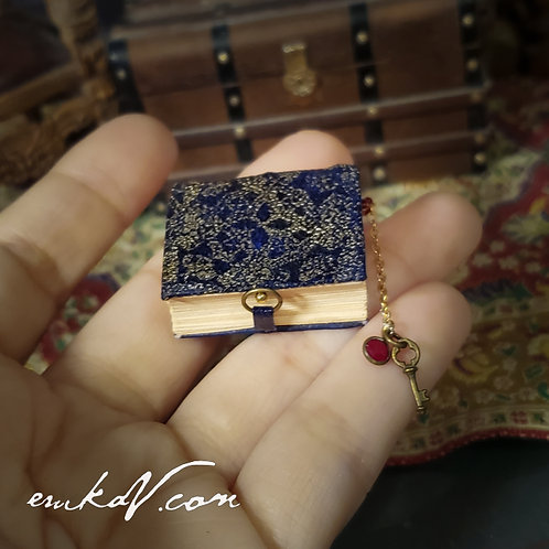 Blue Leather Book wt Gold Embossing