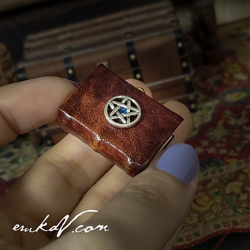 NEW Miniature Leather bound Spell Book of Shadows (Special Order)
