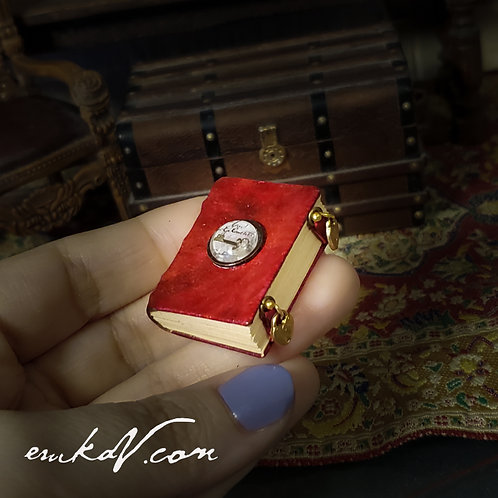 Red Leather Lens Key Book