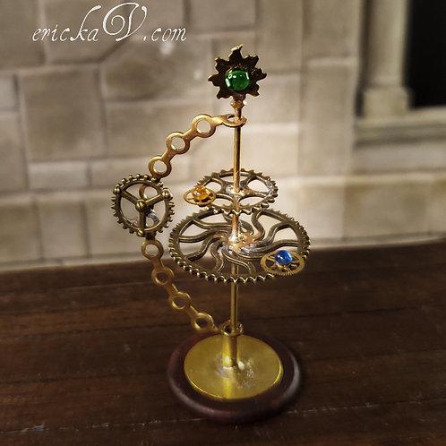Ornate Rotating Gear Orrery