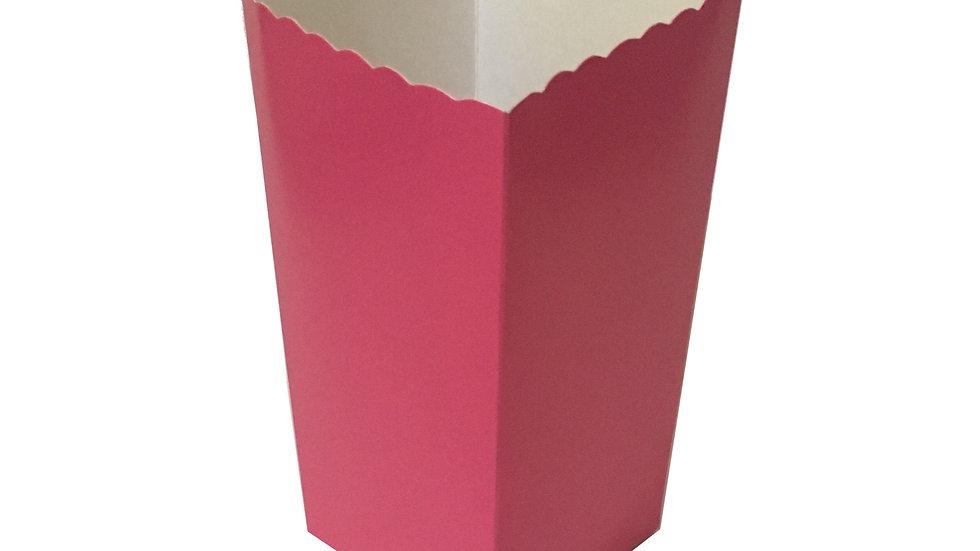 Caixa Para Pipoca Rosa 5,5cmx5,5cmx12,5cm
