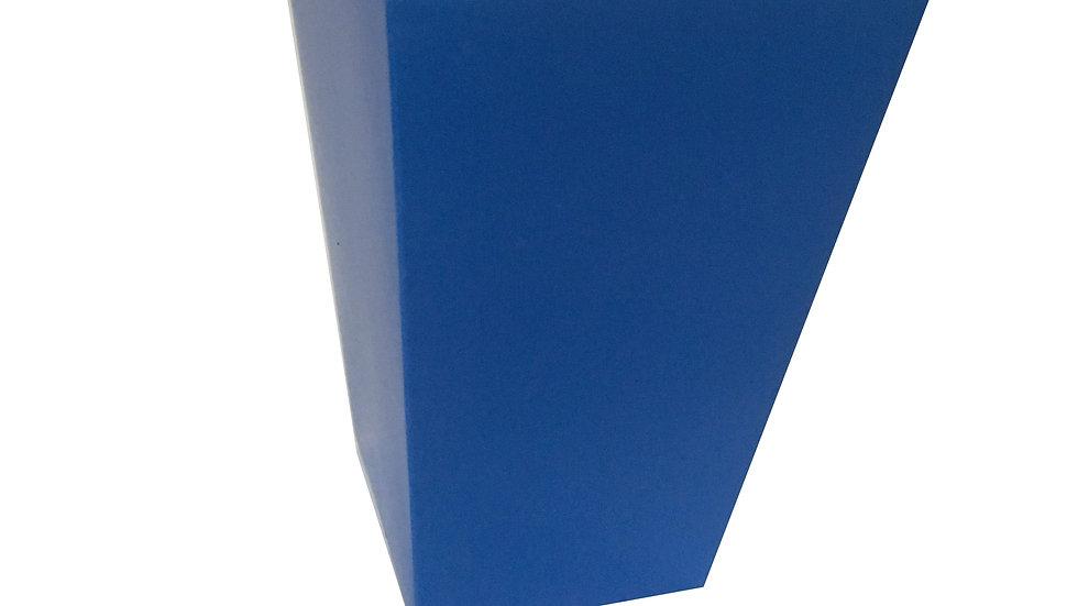 Caixa Para Pipoca Azul 5,5cmx5,5cmx12,5cm