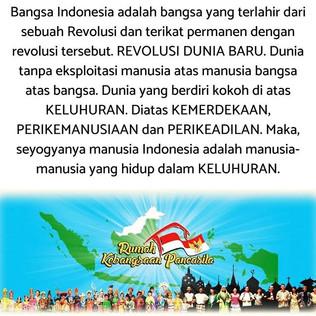 Bangsa Indonesia adalah bangsa yang terl