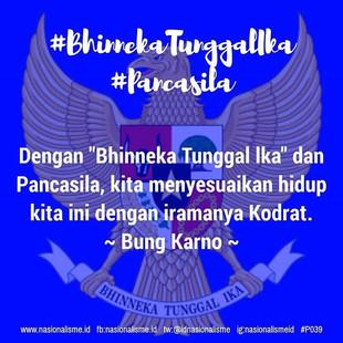 Dengan _Bhinneka Tunggal lka_ dan Pancas