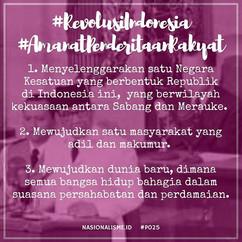 #revolusiindonesia #amanatpenderitaanrak