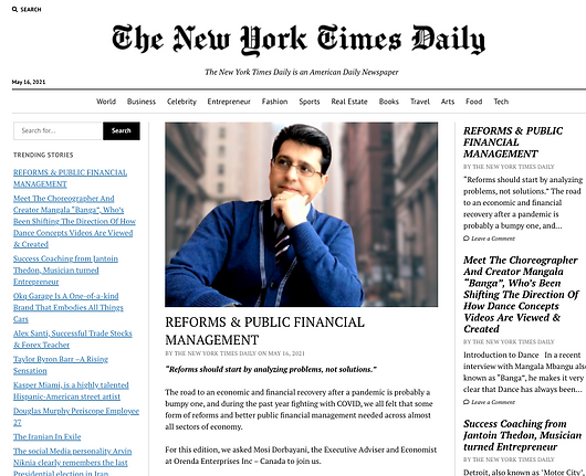 Mosi Dorbayani - New York Times Daily.pn