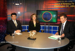 At Voice of America TV Washington DC