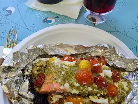 Mediterranean Salmon in Foil Packets