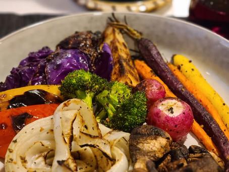 Rainbow Grilled Veggies + Grenache
