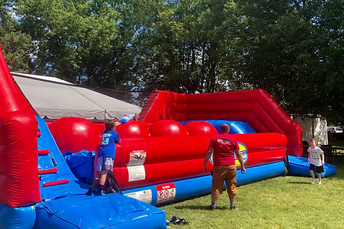 Inflatable Wipeout Obstacle Course Rental
