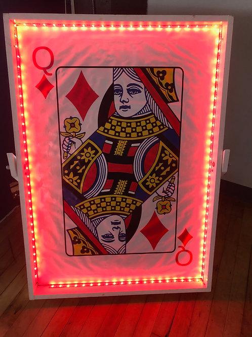 LED Casino Decoration Giant Cards