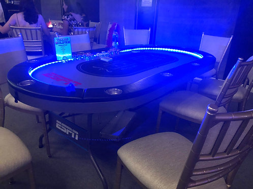LED Poker Table For Rent