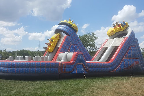 Inflatable Wild One Roller Coaster Obstacle Course