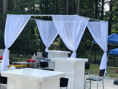 VIP Pool Style Sheer Canopy Rentals