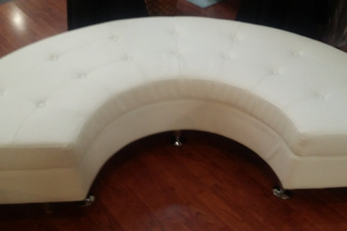 White C Section Sofa Rental