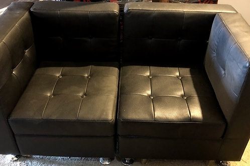 Black Sofa Bench Rental