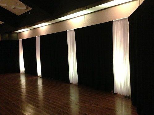 LED Accent Sheer Pipe & Drape Decor Party Rental