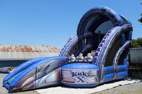 Inflatable Football Touchdown Bounce House Rental Kick X