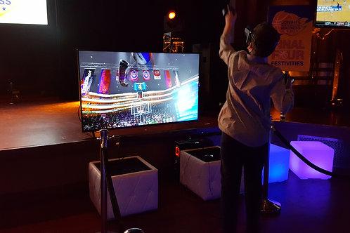 rent vr, rent virtual reality basketball, basketball simulator, rent basketball games, fun basketball simulation