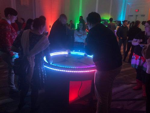 LED Air Hockey Game Rental 4 Player