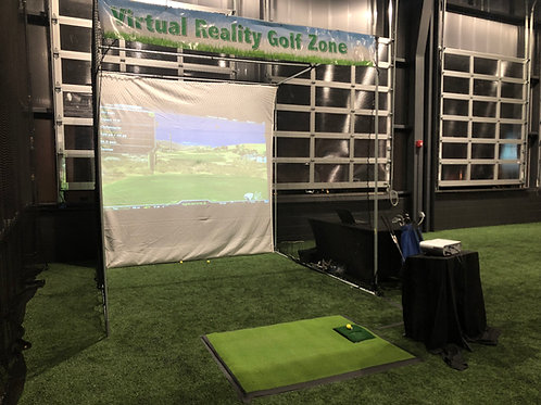 vr rent, rent virtual reality golf, golf simulation
