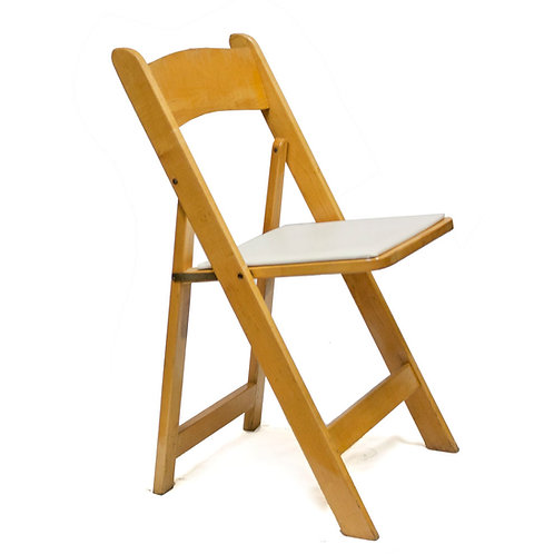 Natural Wood Padded Chair Rental