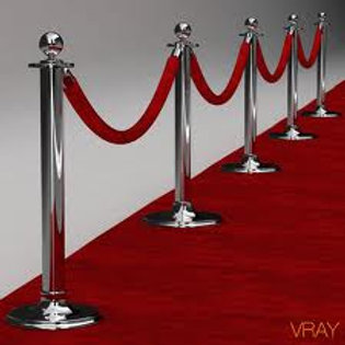 Red Rope and Stanchions Rentals
