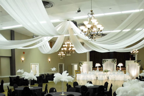 Ceiling Treatment Party Rental