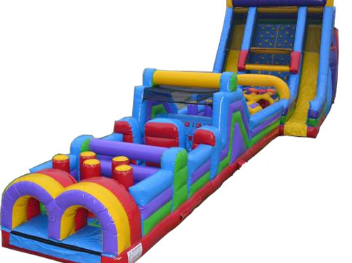 65' Inflatable Obstacle Course Vertical Rush Combo